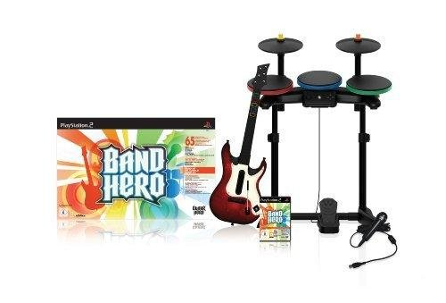 Band Hero inkl. Gitarre, Schlagzeug & Mikro (Guitar Hero Ps2 Schlagzeug)