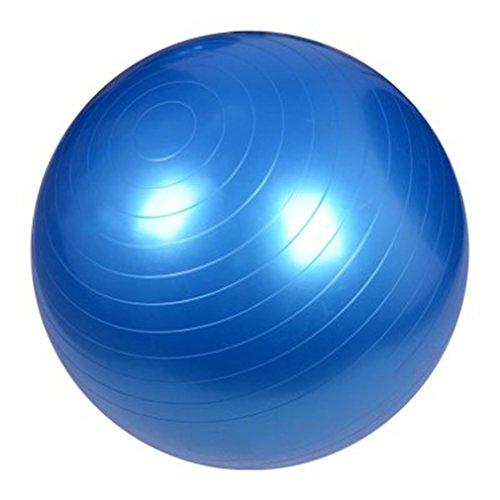 Blackpoolal Anti-Burst Gymnastikball Yoga Ball 85 cm /300 kg Bürostuhl Sitzball Fitnessball Pilates Yoga-Kugel, Pezziball als Fitness Kleingeräte und Balance Stuhl im Gym-Home-Büro + Pumpe (Blau, 85CM)