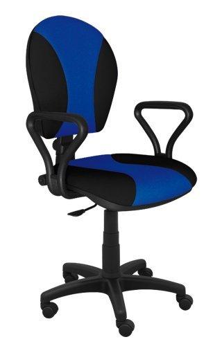 Best For Office Bürostuhl Höhenverstellung Schreibtischstuhl MARKO Modell (SCHWARZ-BLAU)