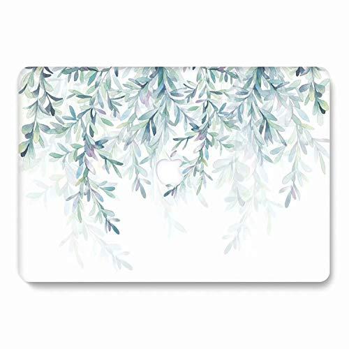 AQYLQ MacBook Schutzhülle/Hard Case Cover Laptop Hülle [Für MacBook Pro 13 Zoll mit Retina Display: A1425/A1502], Matt Plastik Gummierte Hartschale Tasche Schutzhülle, SH-62 grünes Blatt - 13 Fall Matt Pro-fall Macbook
