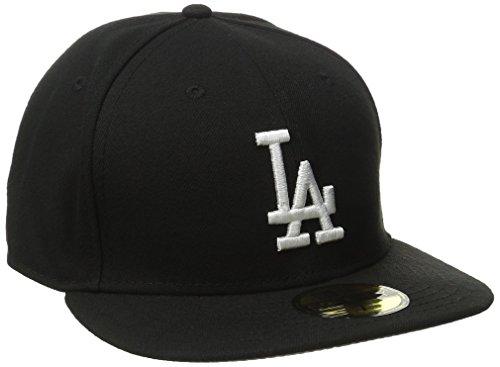 New Era Unisex -59FIFTY – LA Dodgers Essential Mütze, schwarz (schwarz-weiß), 6 7/8