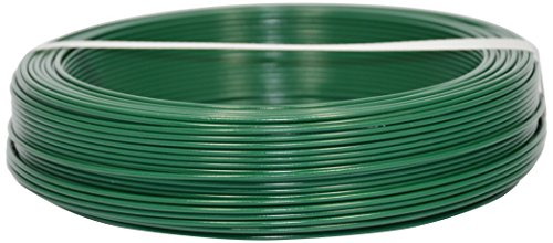 Corderie Italiane 002014102 Fil de fer plastifié, 3,2 mm - 100 m, Vert