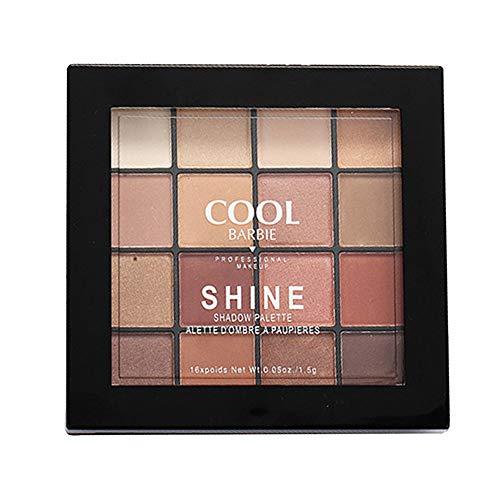 Huihong 16 Farben Perle Glitter Lidschatten Palette Matt Puder Erröten Hightlight Kosmetik Make Up