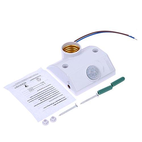 Sunlera E27 AC220 50/60 Hz Infrarot-Bewegungs-Sensor-Automatik-Licht-Halter-Schalter Intelligent Light Motion-Sensing-Switch