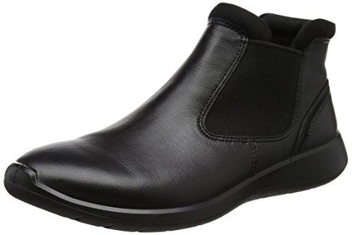 ECCO Soft 5, Stivali Chelsea Donna Blu (Black/black)