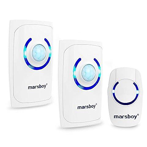 Funkklingel 2 Empfänger 1 Sender, Marsboy 4-in-1 Multi-Funktion Tragbare Wassergeschützte