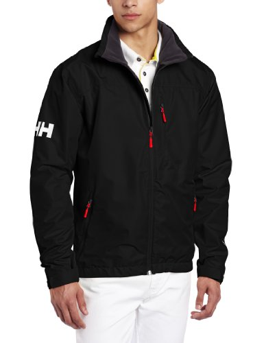 Helly Hansen Men's Crew Midlayer - Chubasquero de náutica, color negro, talla XL