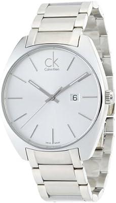 Calvin Klein K2F21126 - Reloj de caballero de cuarzo, correa de acero inoxidable color plata