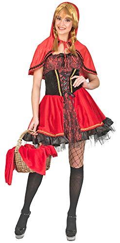 Funny Fashion Rotkäppchen Kostüm für Damen - Rot/Schwarz Gr. ()