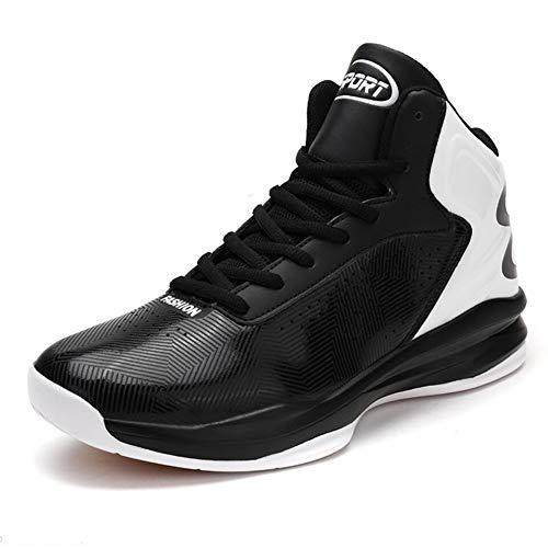 Herren High Boot Tops (FEI Herren Basketballschuhe, High-Top-Sneakers, Frühling Herbst PU rutschfeste Laufschuhe, Komfort-Schnür-Basket Ball Boots Trainer Turnschuhe)