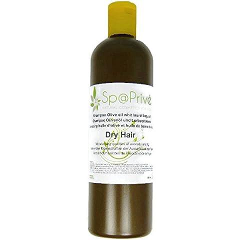 Champú aceite de oliva con aceite de bayas de laurel, Aguacate y del Higo 500 ml Made in France