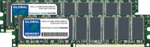 1GB (2x 512MB) DRAM DIMM Memory RAM KIT für Cisco 2821Router (Cisco P/N MEM2821-256U1024D) - Router Memory Kit