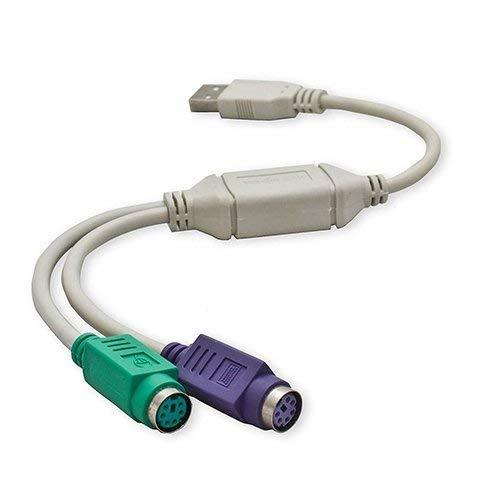 Cable para ratón y teclado, USB Macho a PS2 Hembra