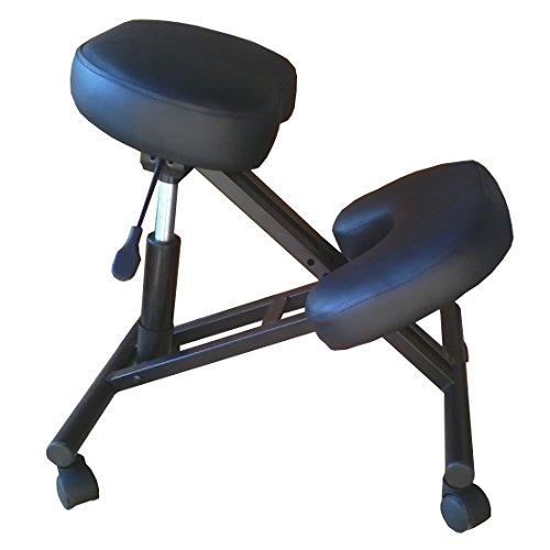Silla ergonómica FK negra kneeling oficina con...