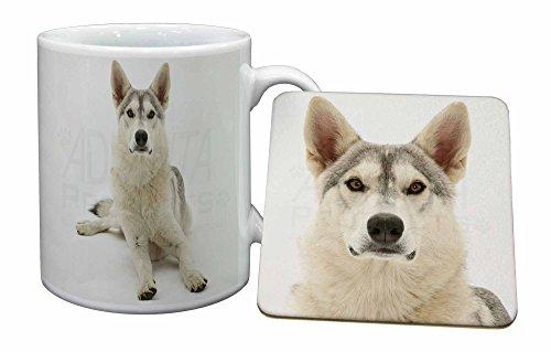 Advanta - Mug Coaster Set Utonagan \Geist der Wolf 'Dog Becher und Untersetzer Tier Ge Wolf Coaster Set