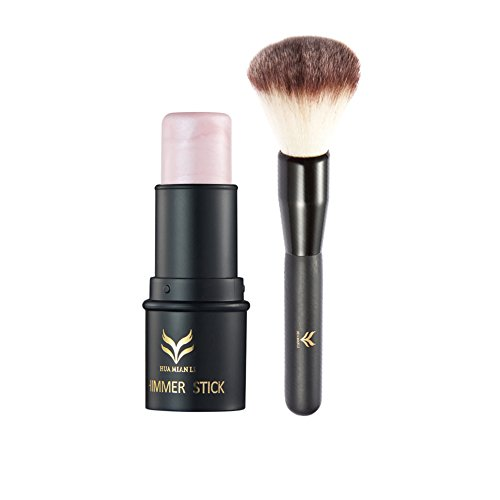 Shimmer Bronzer (ROPALIA Highlighter Stick Concealer Stift Bronzer Pinsel Set Gesicht Illuminate Shimmer Kosmetik Lang anhaltende)