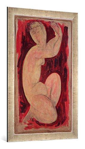 Gerahmtes Bild von Amedeo Modigliani Red Caryatid, 1913