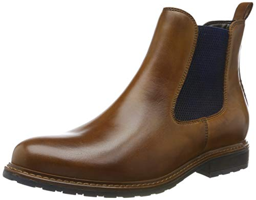 Tamaris Damen 1-1-25056-23 Chelsea Boots, Braun (NUT LEA./Blue 481), 39 EU
