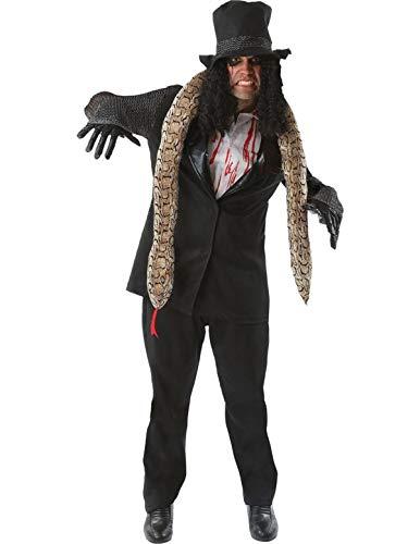 (Generique - Rocker-Halloween Kostüm schwarz-Weiss XL)