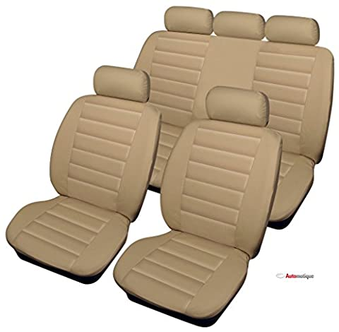Kia Rio 1.25 1 5d 2015 BEIGE LEATHER LOOK SEAT COVERS