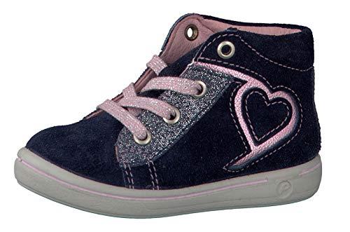 RICOSTA Mädchen Stiefel SINA 2621900, Kinder Boots,Schnür-Stiefel,Nautic,22 EU