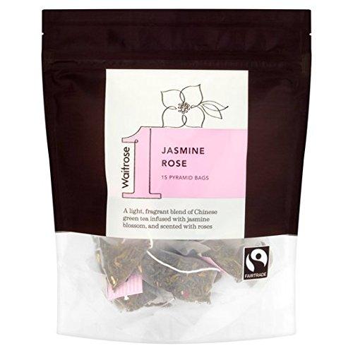 Jasmine Rose Pirámide bolsitas de té Waitrose 15 por paquete