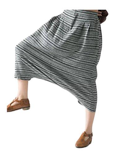 Vogstyle Pantaloni Donna Cargo yoga Harem Elastico Vita Stile-1