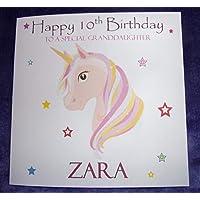 Personalised Unicorn Head Birthday Card Any Age Name Relation 1st 2nd 3rd 4th 5th 6th 7th 8th 9th 10th 11th 12th 13th