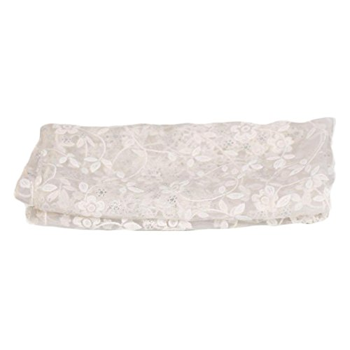 URSING Fotografie Requisiten, Baby Fotoprops Neugeborenes Mutterschaft Props Baby Foto Props Spitze Puckdecke Lace Swaddle Blanket Wickeltuch Steppdecke mit Stirnband (Weiß) (Stricken Rock Rayon)