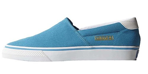 adidas Originals Adidrill VULC Canvas Schuhe Slipper Ballerina Sneaker Blau/Weiß, Schuhgröße:EUR 36.5