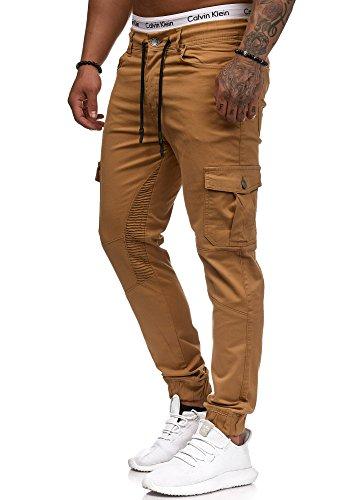 OneRedox Herren Chino Pants | Jeans | Skinny Fit | Modell 3207 Beige 31/32
