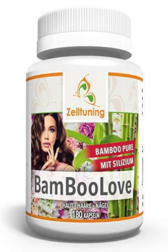 Zelltuning BAMBOOLOVE 180 Kapseln Pure Bambusextrakt Hochdosiert mit 400mg Organischem Silizium pro Tagesdosierung. Vegan ohne künstliche Zusätze.