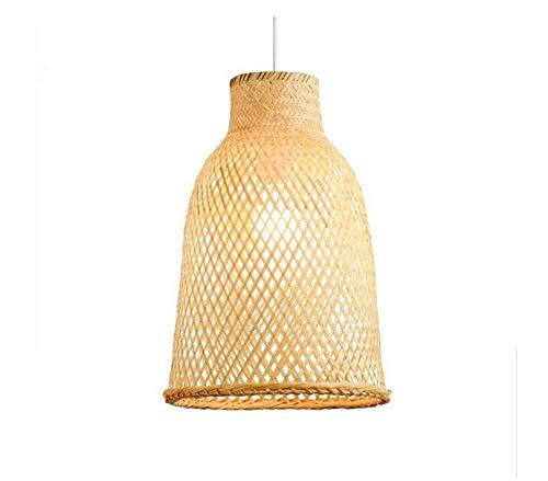 Kronleuchterlampen Lampenschirm Beleuchtung Kronleuchter Bambus Wicker Rattan Laterne Schatten Pendelleuchte asiatische Vintage hängende Deckenleuchte für Restaurant Flur -