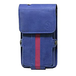 Jo Jo A6 Nillofer Series Leather Pouch Holster Case For Sony C1904/C1905 Dark Blue Pink
