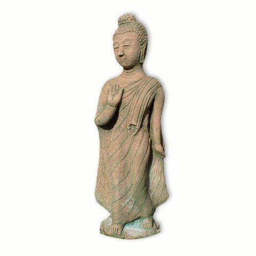 Bouddha debout rouge-vert (10211)