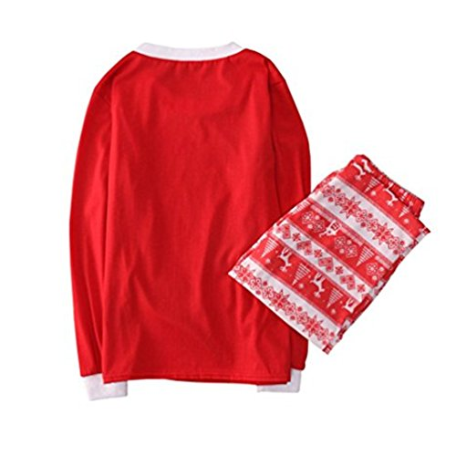 ARESHION -  Pigiama due pezzi  - relaxed - A righe - Maniche lunghe  - Donna Dad Red