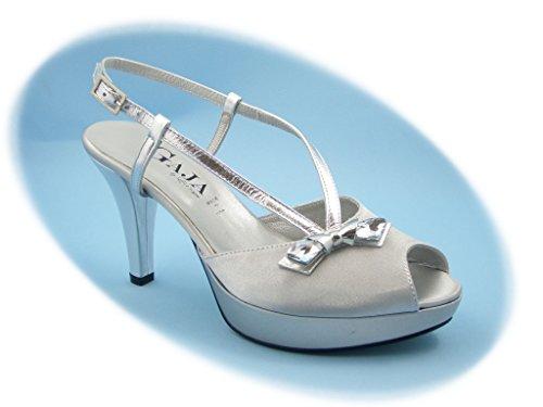 Sandalo elegante Gaja-Soffice Sogno, scarpa con tacco 8,5cm e plateau 2cm.-5152