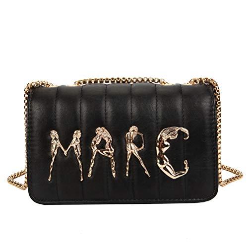 Klassische Flap Clutch (ZIHUINI Paket 2019 New Luxury Fashion Brief Kette Schulter Messenger Bags Hochwertige Frauen Geldbörsen und Handtaschen Clutch Flap)