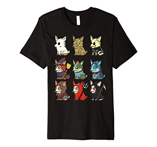 Corgi Monster Kostüm Halloween T-Shirt Lustiger Hund ()