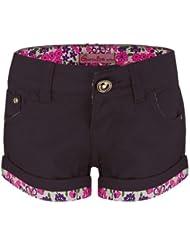 Filles Couleur Short Jeans Floral Ourlet Enfants Mode Coton Shorty