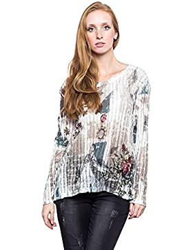 [Patrocinado]Abbino Nivea Camisas Blusas Tops para Müjer - Hecho en ITALIA - 5 Colores - Verano Otoño Invierno Mujeres Elegantes...