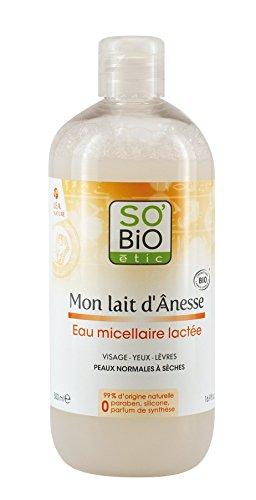 SO'BiO étic Acqua micellare, al latte d'asina, bio, 500ml