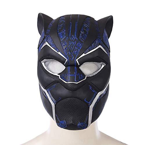 Marvel Legends Serie Black Panther Helm Maske - Perfekt für Karneval und Halloween - Kostüm für Erwachsene - Latex, Unisex Blau Lila,Black Panther Blue-53cm~60cm