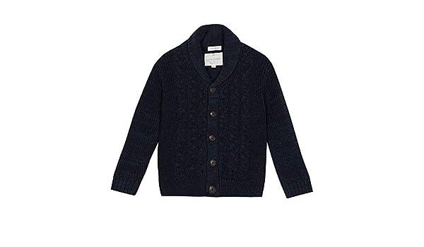 bcf85a87446e2f J by Jasper Conran Kids Boys' Navy Cable Knit Cardigan: J by Jasper Conran:  Amazon.co.uk: Clothing