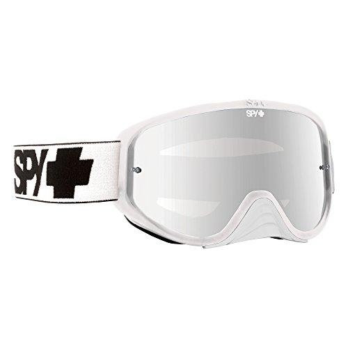Spy Mx Goggles Woot Race, White/Smoke w/Silver Mirror Clear/Anti Fog w/Post, One Size