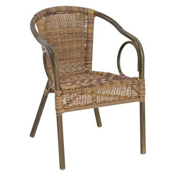 greemotion Chaise de jardin bistrot Laos marron clair - Chaise de ...
