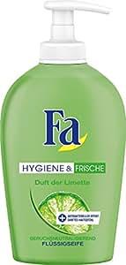 Fa Hygiene & Frische Flüssigseife, Limette, 6er Pack (6 x 250 ml)