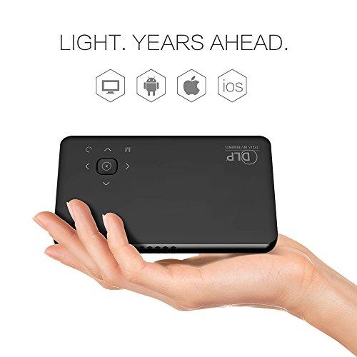 Beawelle Full HD Mini Beamer, Portable Projektor, für TV Laptop Smartphone mit kostenlosem HDMI Kabel und Tripod( nur für Zuhause Theater, Nicht für PPT Rede !!!)