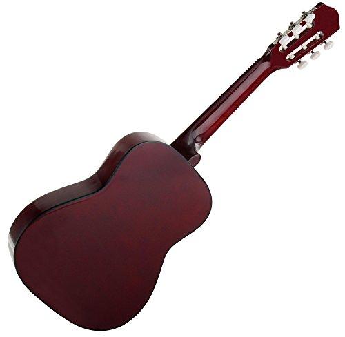 Classic Cantabile AS-851 1/2 Konzertgitarre Starter Set (Komplettes Anfänger Set mit Klassik Gitarre, Gigbag Tasche, Nylonsaiten, Lehrbuch/Schule inkl CD und DVD, 3x Plektren und Stimmpfeife) - 5