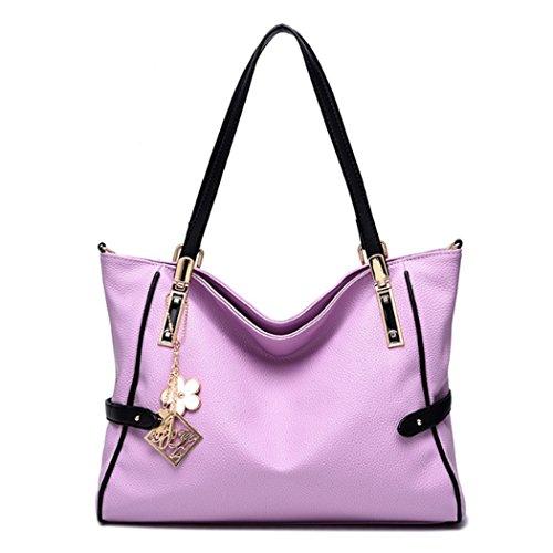 Sacchetti di spalla delle borse delle donne Sacchetto di Hobo del messaggero delle donne del cuoio del faux della borsa di Tote Viola